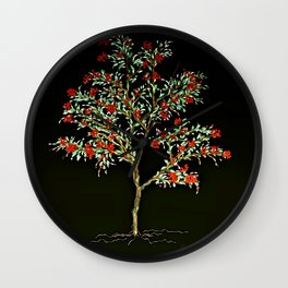 Berry Tree by Barbara Chichester Wall Clock