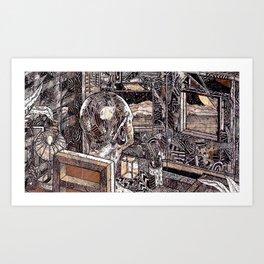 Brain Lapse (Still Frame 1) Art Print