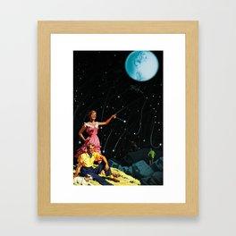 Luxurious Lunar Larking Framed Art Print
