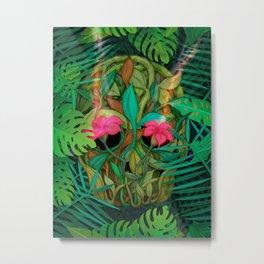 jungle skull Metal Print