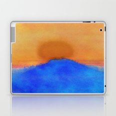 Blue landscape at sunset Laptop & iPad Skin