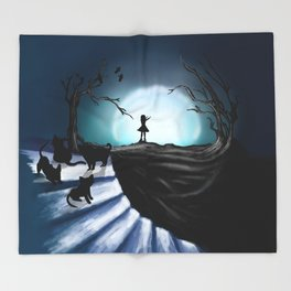 My Part to the Longest Illustration. Throw Blanket