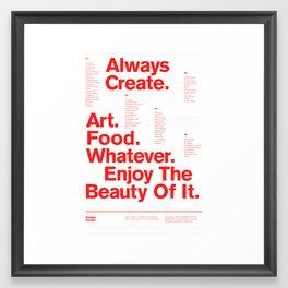 Always Create — Grid Series 01 (White) Framed Art Print