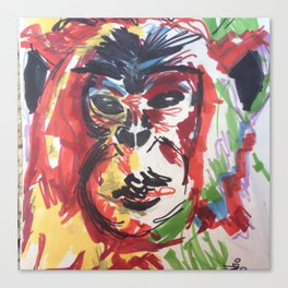 monkey thougths Canvas Print