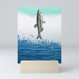 little fish big fish Mini Art Print