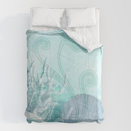 SEASHELL DREAMS | blue Comforters