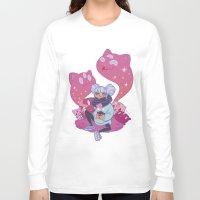 pastel goth Long Sleeve T-shirts featuring Pastel Tea by LaRi
