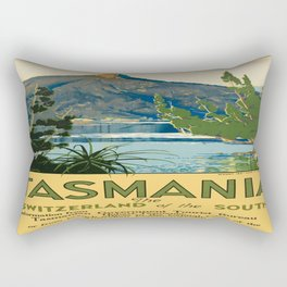 Vintage poster - Tasmania Rectangular Pillow
