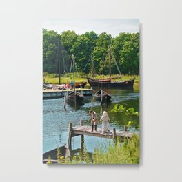 Old Viking Boats Metal Print