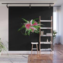 Pastells black by Mia Niemi Wall Mural