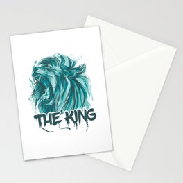 Blue Lion (The King Of Jungle) Vector Style Stationery Cards
