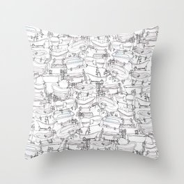 Bathtubs Throw Pillow