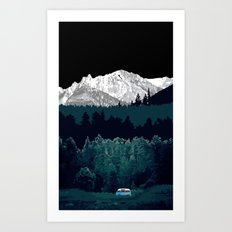 Under the Mountain  Art Print