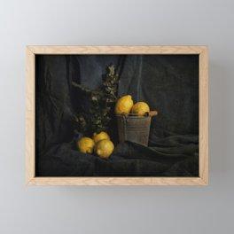 Cassic still life with lemons Framed Mini Art Print