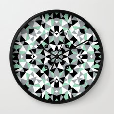 Abstract Kaleidoscope Mint Wall Clock