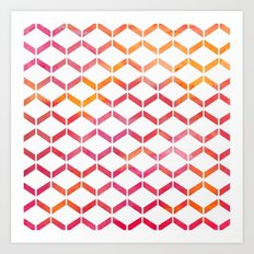 Sunset Geometric  Art Print