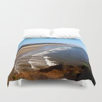 oregon Duvet Covers featuring Oregon Coast by MaryPaul