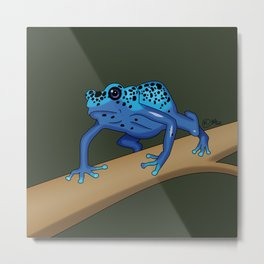 The Blue Dendrobate Metal Print