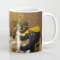 poker Mugs featuring Poker by happymiaow