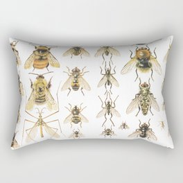 flying insects Rectangular Pillow