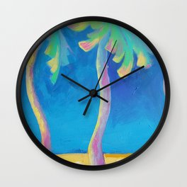 DANCING PALMS Wall Clock