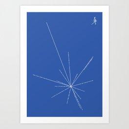 Voyager Golden Record Fig. 3 (Blue) Art Print