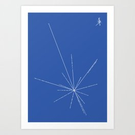 Voyager Golden Record Fig. 3 (Blue) Art Print