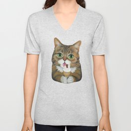 Lil Bub - famous cat Unisex V-Neck