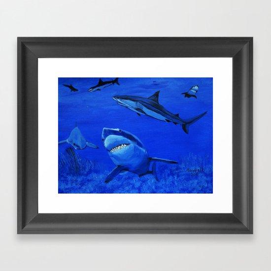 Life in the Sea  Framed Art Print