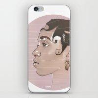 fka twigs iPhone & iPod Skins featuring FKA Twigs by Mateusz Kampa