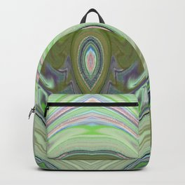 Minty Green and Pearl Diamond Abstract Backpack