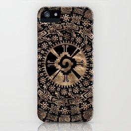 Hunab Ku Gold on black #4 iPhone Case