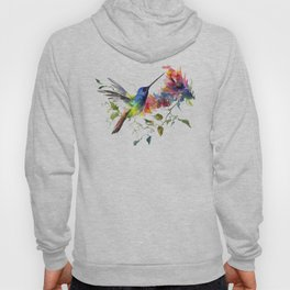 Hummingbird, tropical Foliage, Hawaiian design, tropical, colors Hoody