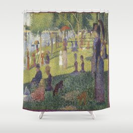 Georges Seurat's A Sunday Afternoon on the Island of La Grande Jatte Shower Curtain