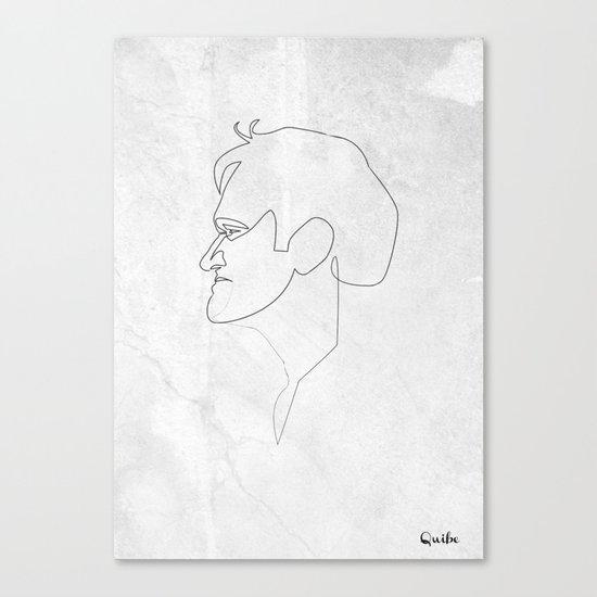 One line Quentin Tarantino Canvas Print