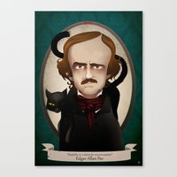 edgar allan poe Canvas Prints featuring Edgar Allan Poe said... by Mrs Peggotty