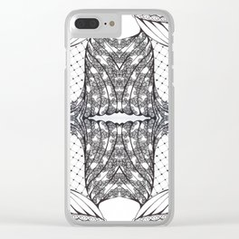 Black and White Zen Doodle 3 Clear iPhone Case