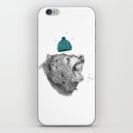bear and cigaret  iPhone Skin
