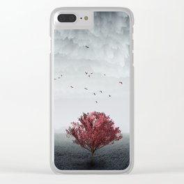 the RED tree ll Clear iPhone Case