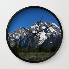 Beautiful Grand Teton View Wall Clock