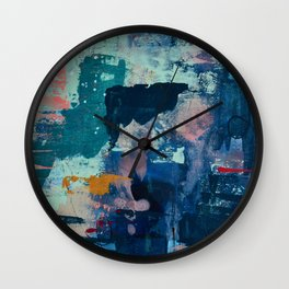 The Peace of Wild Things: a vibrant abstract piece in a variety of colors by Alyssa Hamilton Art Wall Clock