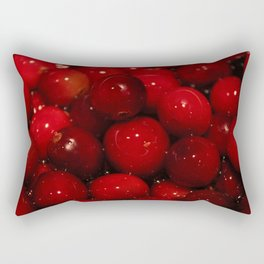 Cranberries Photography Print Rectangular Pillow