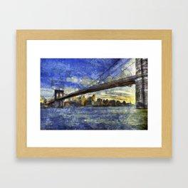 Brooklyn Bridge New York Art Framed Art Print