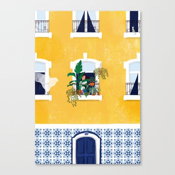 Lisbon girl Leinwanddruck