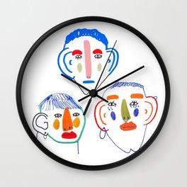 Faces Wall Clock