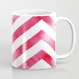 Watercolor Chevro, Red Chevron Striped Watercolor, Home And Accessories Coffee Mug