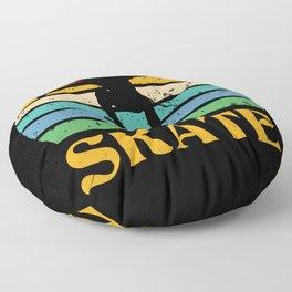 Retro Skate Skateboard Skateboarding Floor Pillow