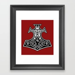 Thor's hammer redux Framed Art Print