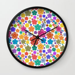 New age flower power Wall Clock