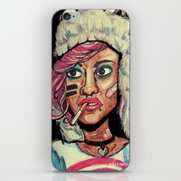tank girl iPhone & iPod Skins featuring Tank Girl by N3RDS+INK